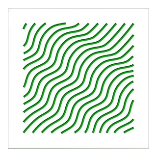 Chuck Krause Waves (Green), original three dimensional geometric design wall relief 2020 For Sale