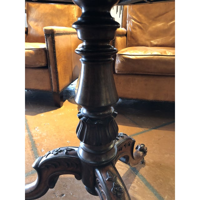 19th Century 19th Century English Regency Rosewood Pedestal Table For Sale - Image 5 of 10
