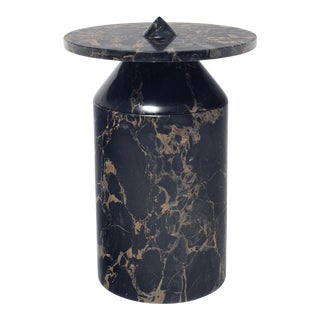 Black Portoro Marble Coffee Table by Karen Chekerdjian For Sale