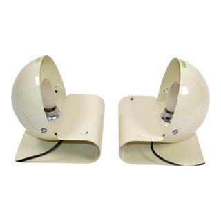 Giuseppe Cormio Enameled Metal Bugia Table Lamp Harvey Guzzini Italy - a Pair For Sale