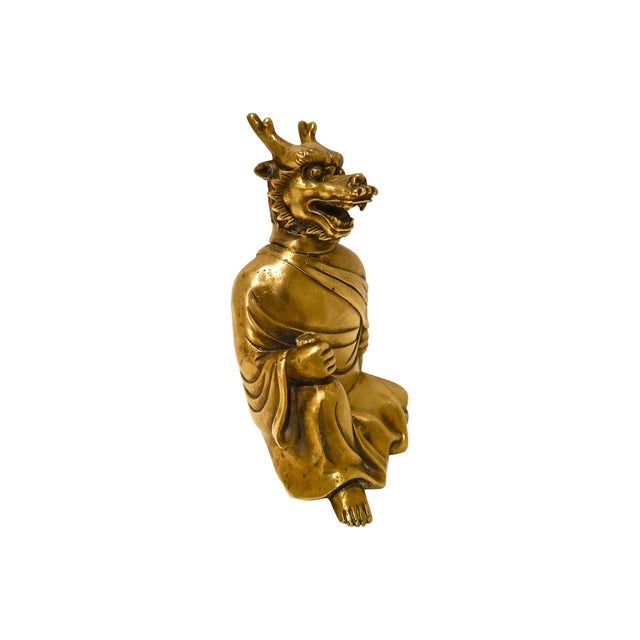 Early 20th C. Brass Dragon Monk Accent - Image 4 of 6