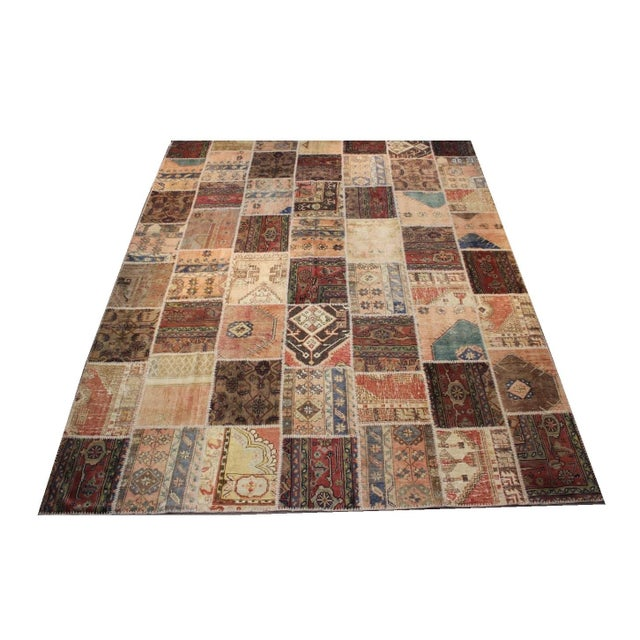 Fashioned from original hand-knotted Turkish rugs, which are hand-woven in mid 1900s. They have been kept in a corner of...
