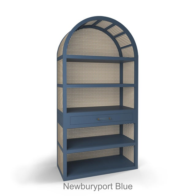 Not Yet Made - Made To Order Leila Etagere Bookcase- Newburyport Blue For Sale - Image 5 of 5