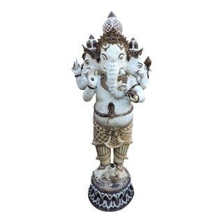 Glazed Ceramic Ganesh For Sale