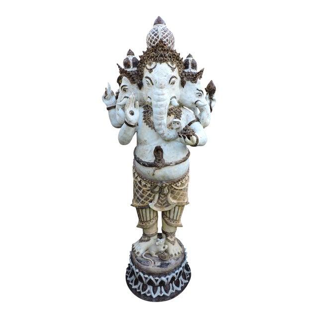 Glazed Ceramic Ganesh For Sale