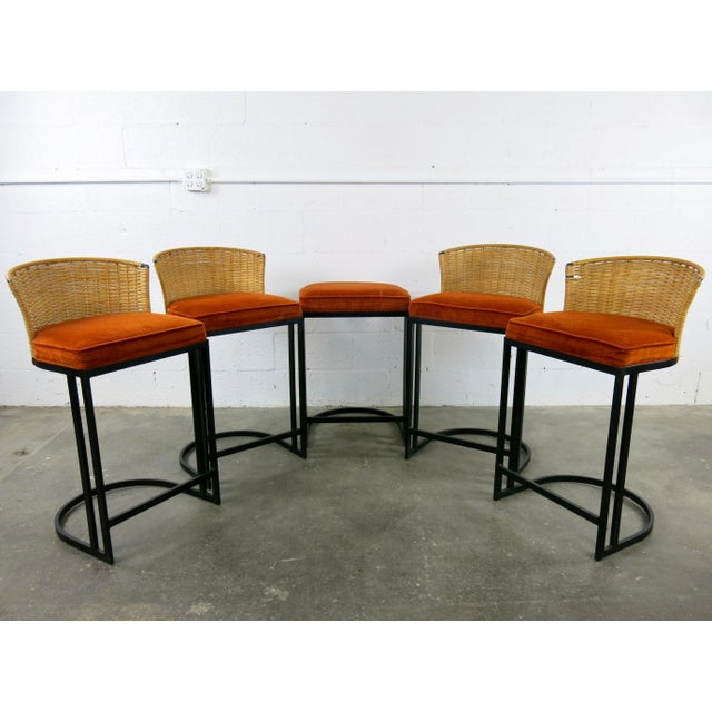 Milo Baughman for Shaver-Howard Cantilever Bar Stool - Set of 5 - Image 3 of 11