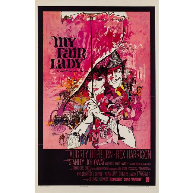Featuring the much celebrated artwork by Bob Peak, the US 1 Sheet for My Fair Lady, starring Audrey Hepburn and Rex...