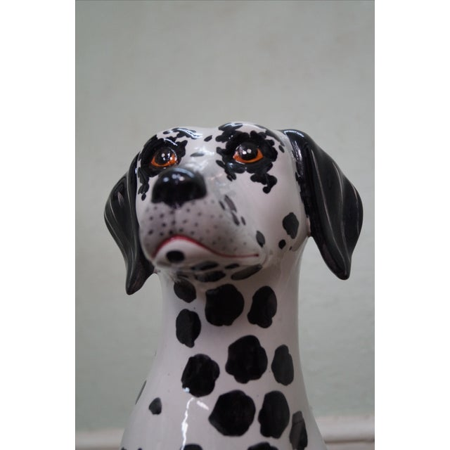 Vintage Italian Pottery Dalmatian Dog Statue For Sale - Image 10 of 10