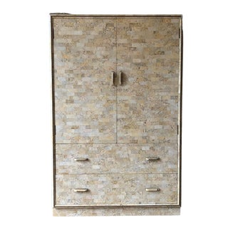 Maitland-Smith Tessellated Stone Cabinet For Sale