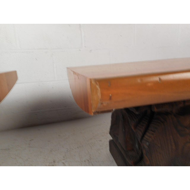 Brown Pair of Midcentury Totem End Tables by Witco For Sale - Image 8 of 13