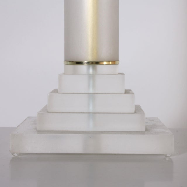 Pair of Stacked Lucite Lamps, C. 1960 For Sale In Dallas - Image 6 of 8