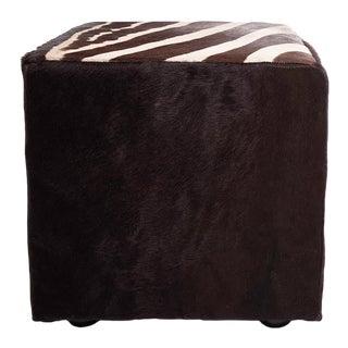 Burcheel Zebra Cube Ottoman For Sale