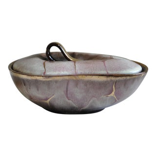 Carstens Tonnieshof Western Germany Art Pottery Covered Bowl Dish For Sale