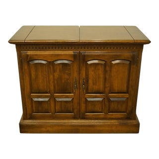 Ethan Allen Classic Manor Solid Maple Flip Top Server For Sale