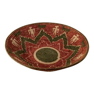Extra Large Boho Handmade Basket For Sale