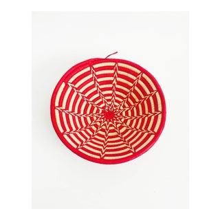 Vintage Southwestern Red and Tan Coil Basket