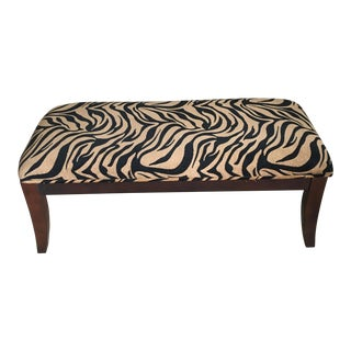 Modern Zebra Print Waterfall Bench For Sale