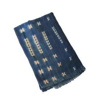 Vintage Indigo African Dalia Mud Cloth