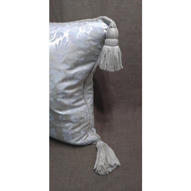 French Provincial Anichini Silk Damask Throw Pillow For Sale - Image 3 of 5
