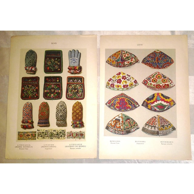 Early 20th Century Eastern European Embroidery Prints - A Pair - Image 2 of 4