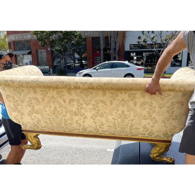 Quatrain Regency Style Giltwood & Mahogany Sofa - Dessin Fournir For Sale In Los Angeles - Image 6 of 7
