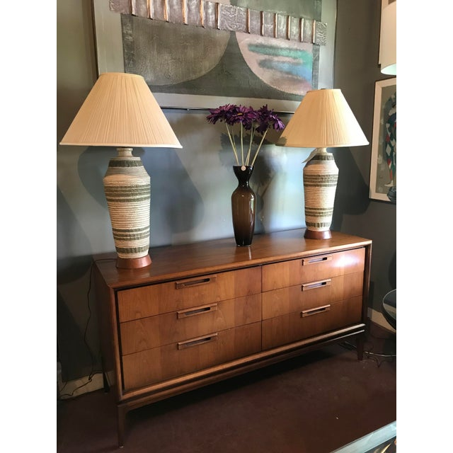 Mid Century Walnut 6 Drawer Dresser For Sale In Boston - Image 6 of 7