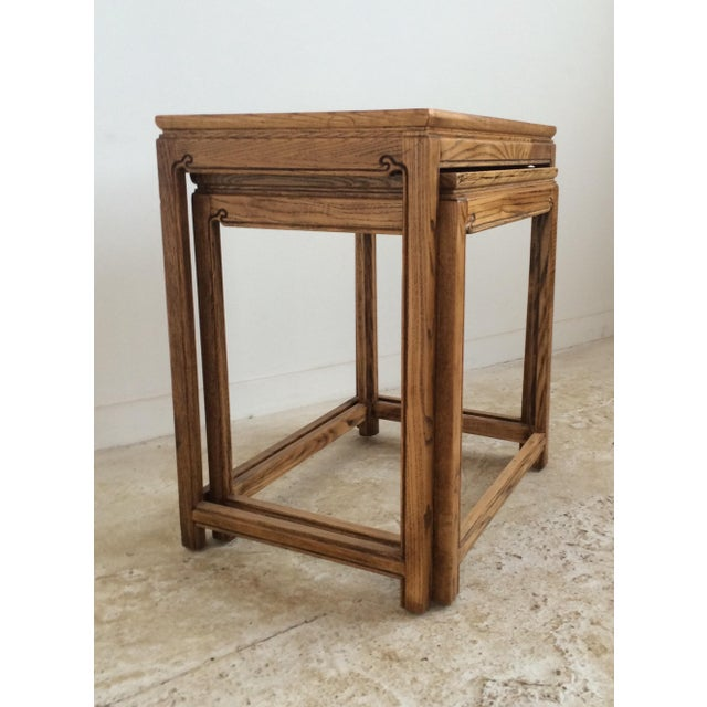 Chinese Nesting Tables A Pair Chairish