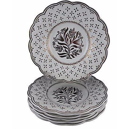 Wedgwood Gold Lustre Plates - Set of 6 For Sale