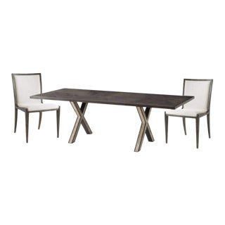 Hair on Hide Dining Table & Chairs - Set of 6