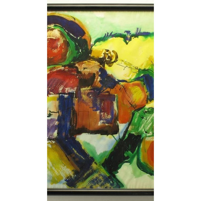 Anne Jansen Anne Jansen Water Color and Ink Abstract Painting, circa 1970 For Sale - Image 4 of 7