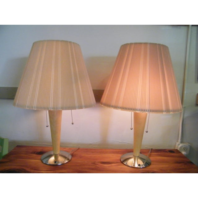 Mid-Century Modern Wood Lamps - A Pair - Image 4 of 6