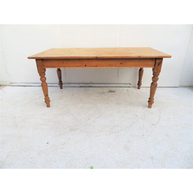 English Scrub Pine Farm Table - Image 6 of 7