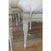 20th Century Painted and Upholstered Louis XVI Dining Chairs - Set of 8 - Image 3 of 5