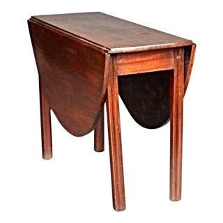 18th C. English Chippendale Mahogany Drop Leaf Table For Sale