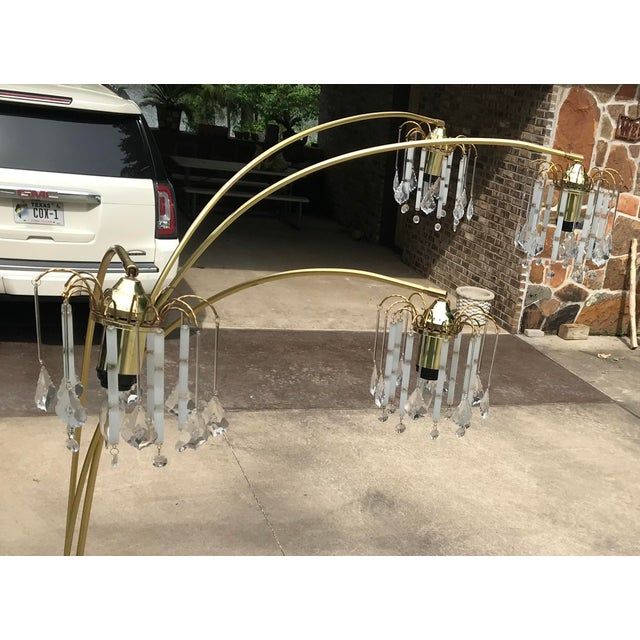 Vintage Mid Century Waterfall Floor Lamp With Marble Base For Sale In Dallas - Image 6 of 13