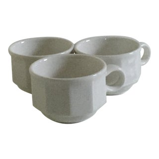 Villeroy & Boch White Premium Porcelain 10 Facets Espresso Cups - Set of 3