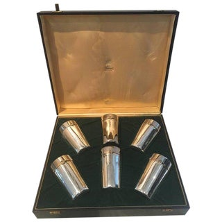 1970s Vintage Gucci Silver Plated Glasses - 7 Pieces For Sale