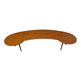 12' Custom Made Colossal Mid-Century Modern Amorphic Conference Table Desk For Sale