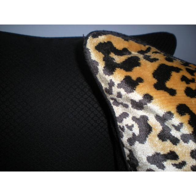 Bespoke Scalamandre Silk Leopardo & Mohair Pillows - Image 6 of 6