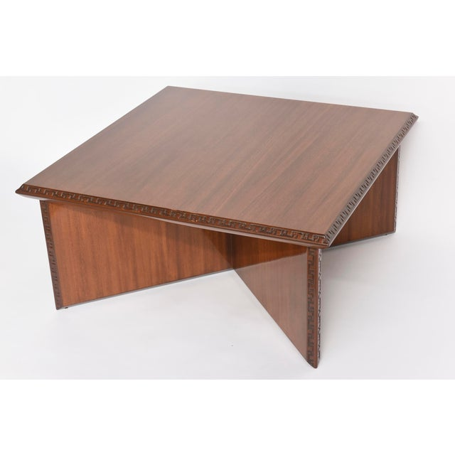 """American Modern Mahogany """"Taliesin"""" Low Table, Frank Lloyd Wright For Sale - Image 9 of 9"""