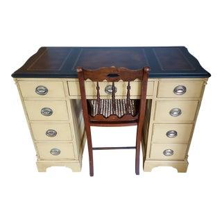 Federal Desk, Mahogany & Chair, 1950 - A Pair