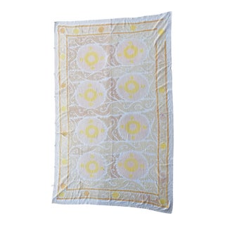 Neutral Suzani Wall Hanging Textile Art For Sale