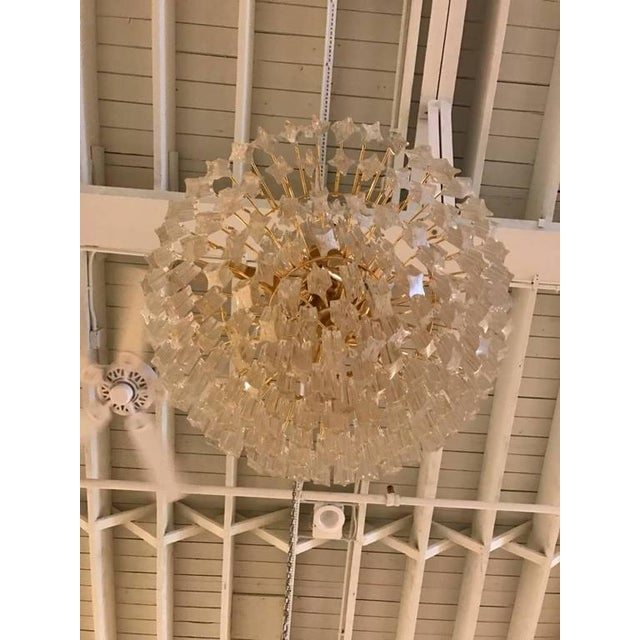 Camer Glass Circa 1970 Camer Mid-Century Italian Murano Glass Chandelier For Sale - Image 4 of 10