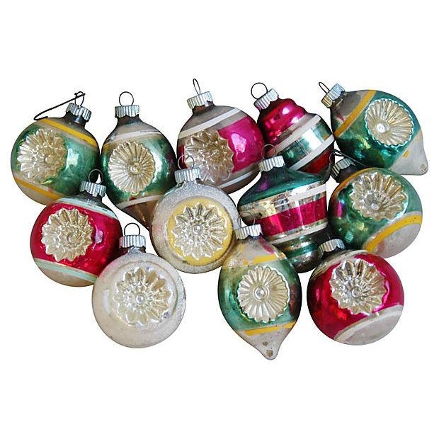 1950s Christmas Tree Ornaments - Set of 12 - Image 1 of 5