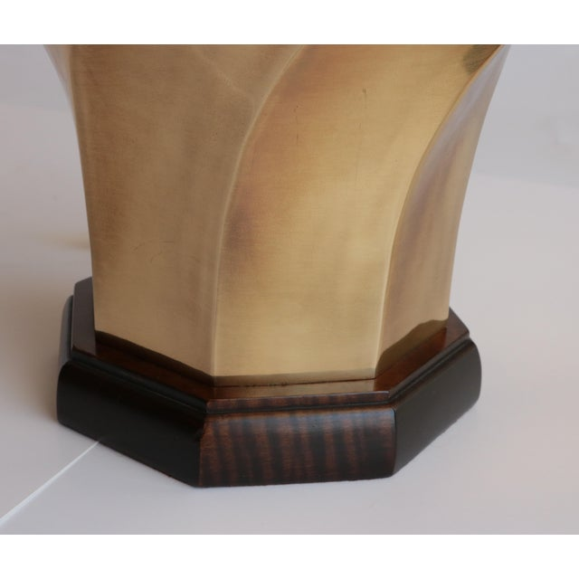Late 20th Century Frederick Cooper Brass Twist Table Lamp For Sale - Image 5 of 6