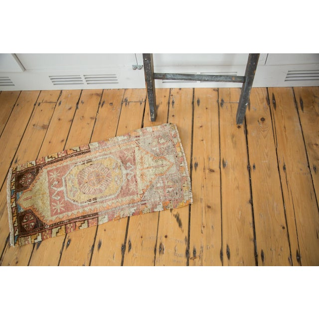 "Vintage Oushak Distressed Rug - 1'6"" x 2'10"" - Image 4 of 6"