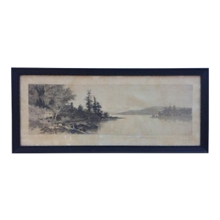 "Etching ""Afternoon on Lake George"" Print by Ernest C. Rost For Sale"