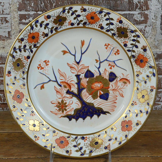 Asian Late Georgian Crown Derby Old Japan Porcelain Dinner Plate For Sale - Image 3 of 8