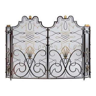 French 1940s Apartment Gate Attributed to Raymond Subes For Sale