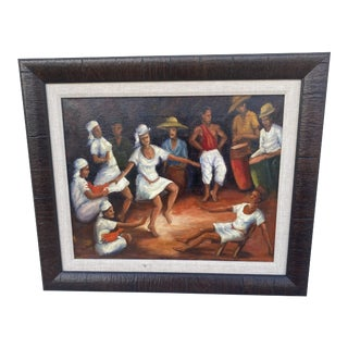 Oil Painting of the Folk Ceremony. For Sale